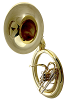 Marching Sousaphone - Silver with ABS Case