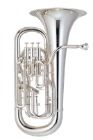 Euphonium - JP Sterling - with trigger - silver
