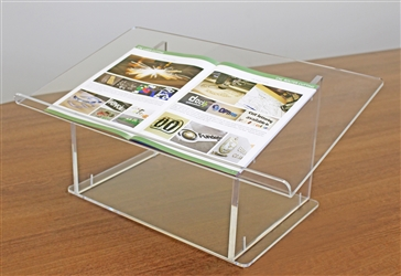 "Clear Acrylic Tabletop Podium/ Lectern (23-1/2""W x 10-1/2""H x 14-1/4""D)"