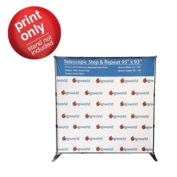 "Telescopic Step & Repeat 95"" x 93"" Replacement Fabric Print"