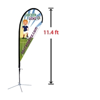 "Replacement 33"" x 91"" Medium Tear Drop Flag"