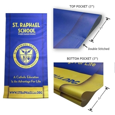 "Pole Banner Replacement Banner 18"" X 24"""