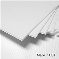IntePro Corrugated Plastic - White - 4 mm