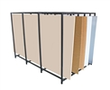 "5-Bay Vertical Sheet Rack/ Substrate Storage Rack (78""L x 47.5""W x 54""H)"