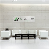 Custom Acrylic Office Lobby Sign For Reception Area Office Sign