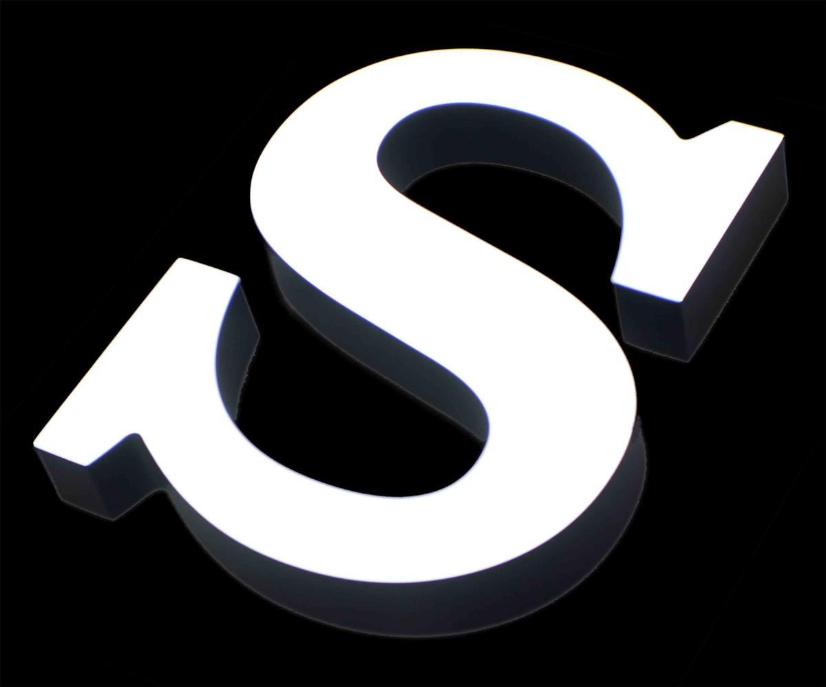 3D Acrylic Letter Signs - Front Lit