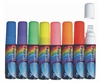 Fluorescent Liquid Chalk Marker Large Flat Tip - Set of 8