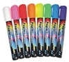 Fluorescent Liquid Chalk Markers Small Bullet Tip - Set of 8