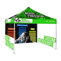 10ft Pop Up Canopy Tent Back Wall & 2x Sidewalls With Print