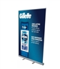 "Retractable Roll Up Banner Stand 47"" with Vinyl Print"