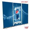 Retractable Roll Up Banner STand Wall 10'
