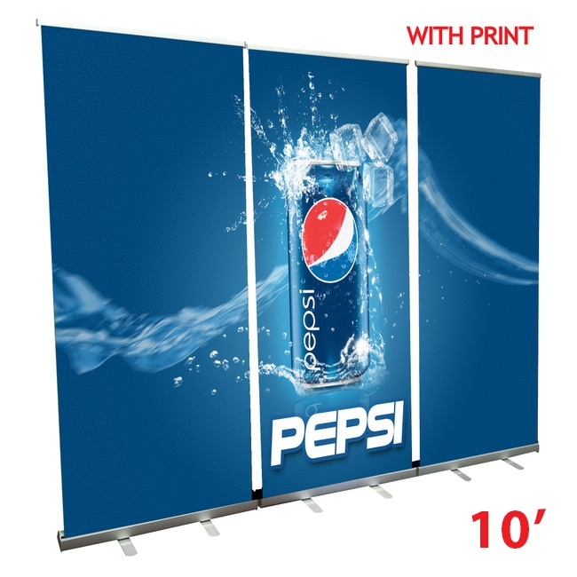 Retractable Roll Up Banner Stand Wall 10