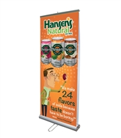 "Double Sided 33"" Retractable Roll Up Banner Stand - Stand Only"