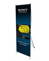 "Small X Banner Stand 24"" x 63"" with Vinyl Print"