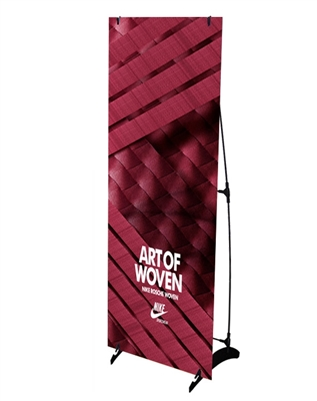 "H Banner Stand 24"" x 63"" with Vinyl Print"