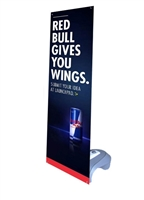 "Outdoor X Banner Stand Water Base with 24""x 57"" Vinyl Print"