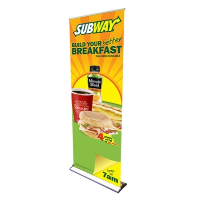 "HD Retractable Banner Stand 24"" with Vinyl Print"