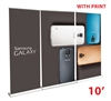 RapidScreen Retractable Roll Up Banner STand Wall 10'