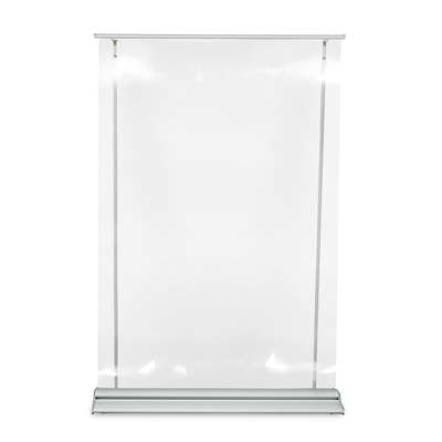 "Roll Up Sneeze Guard - Clear 48""W X 92""H"