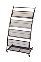 4 Shelf Mobile Literature Display Rack