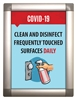"Clean and Disinfect - Snap-Open Poster Frame 10.25"" x 13.75"" with Print"
