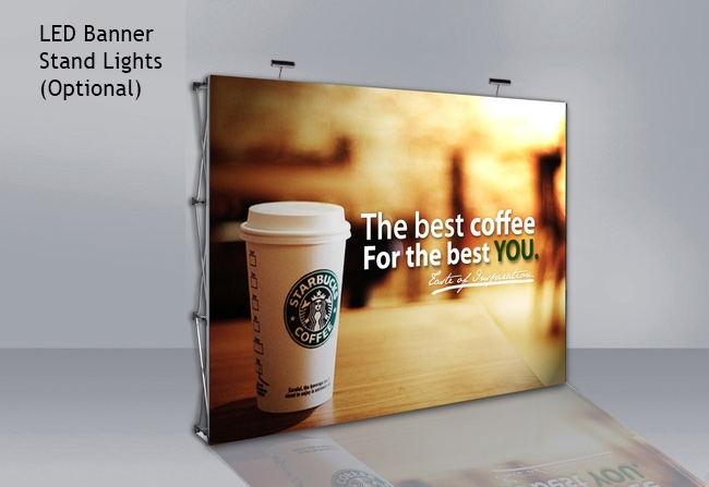 10 Ft Fabric Pop Up Display Frame Only