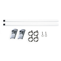 "Street Pole Banner Brackets 18"" - Hardware Only"