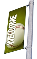 "Street Pole Banner Brackets 18"" with 18"" x 48"" Vinyl Banner"