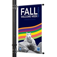 "Street Pole Banner Brackets 24"" with 24"" x 30"" Vinyl Banner"