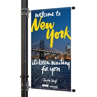 "Street Pole Banner Brackets 30"" with 30"" x 48"" Vinyl Banner"