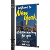 "Street Pole Banner Brackets 30"" with 30"" x 60"" Vinyl Banner"