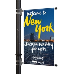 "Street Pole Banner Brackets 36"" with 36"" x 48"" Vinyl Banner"