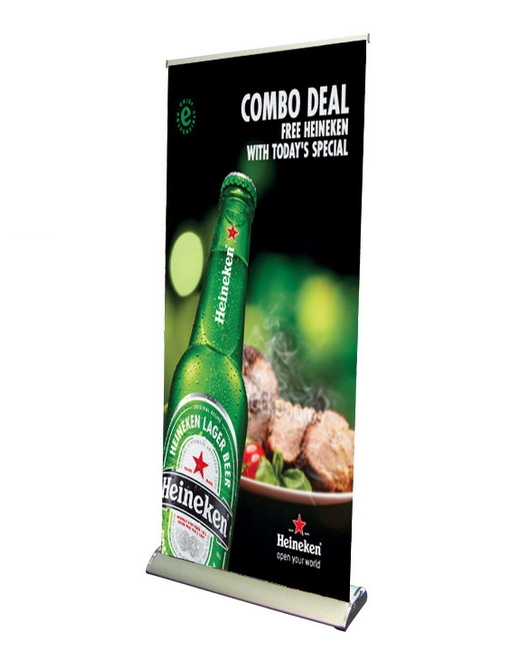 premium retractable roll up banner stand 33 with vinyl print