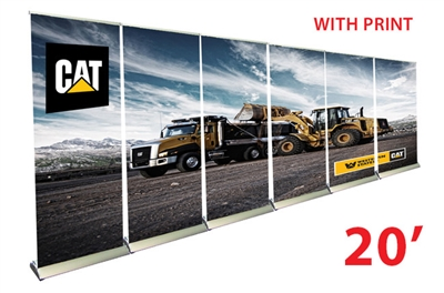 20ft wall 33 premium retractable roll up banner stands