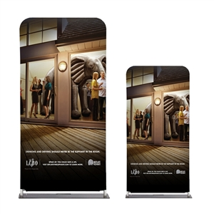 3 Ft Straight Tube Display With Double Sided Fabric Print