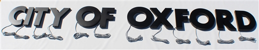 "Halo/ Back Lit Painted Stainless Steel Letters for Indoor & Outdoor Signage - 106""W X 9-1/2""H"