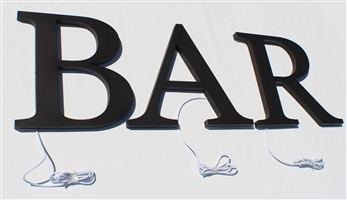 "Halo/ Back Lit Painted Stainless Steel Letters for Indoor & Outdoor Signage - 52""W X 16""H"