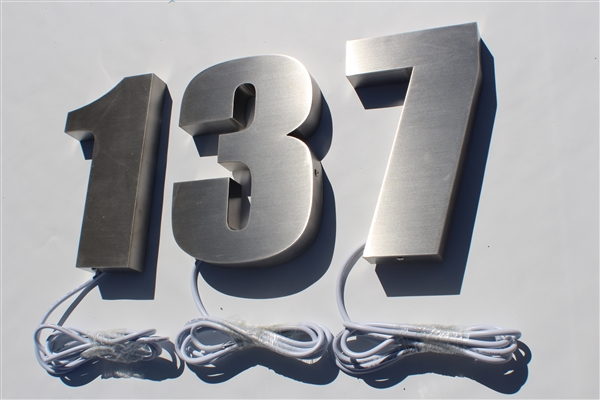 "Halo/ Back Lit Stainless Steel Letters for Indoor & Outdoor Signage - 15""W X 8""H"
