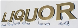 "Halo/ Back Lit Polished Gold Stainless Steel Letters for Indoor & Outdoor Signage - 64""W X 12""H"