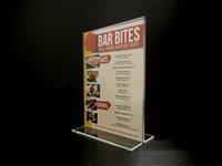 "Acrylic Bottom Loading Display Sign Holder 5"" x 7"""