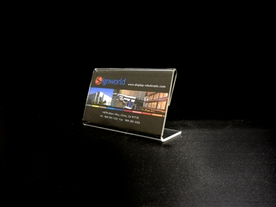 "Acrylic Slant Back Display Sign Holder 3.5"" x 2"""