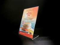 "Acrylic Slant Back Display Sign Holder 4"" x 6"""