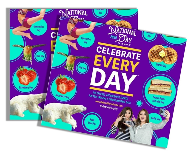 2020 National Day Wall Calendar 2 Pack