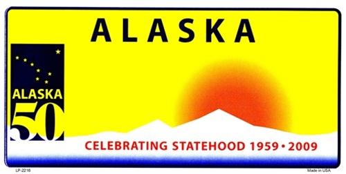 Alaska Blank License Plate