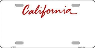 California Blank License Plate Vinyl Cricut Pazzles Larger Photo Email A Friend