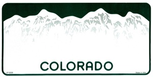 Colorado Blank License Plate Vinyl Cricut Pazzles