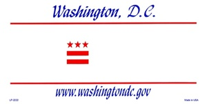 Washington DC Blank License Plate Vinyl Cricut Pazzles