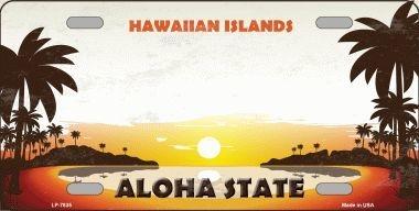 Hawaiian Islands Hawaii Blank State Background Novelty