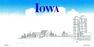 Iowa Blank License Plate Vinyl Cricut Pazzles