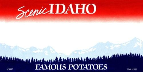 Idaho Blank License Plate